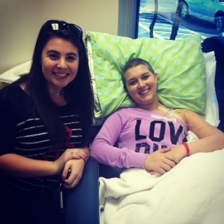 Tayllar with me at Chemo