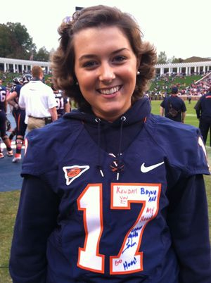 Kendall in UVA jersey